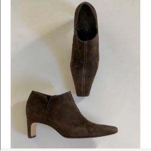 Peter Kaiser Brown Suede Ankle Boot Whipstitch